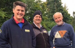 "Three generations of Autotest drivers at the Loughry Championship decider. Andrew Blair, Paul Blair, and ""Daddy of them all"" the Legendary Ken Irwin."