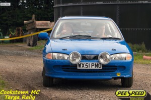 Raymond Kelly gets his Proton sideways with Stephen Armstrong Navigating.