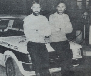 Trevor Haydock (L) and Brian Quinn who unfortunately crashed after the start.