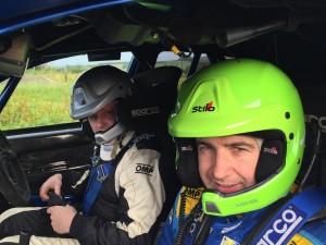 Martin Cairns and Gary McElhinney ran first on the road in their Subaru Impreza S14.