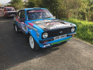 Frank Kelly was running well inside the top ten when a gear linkage broke and put them out.