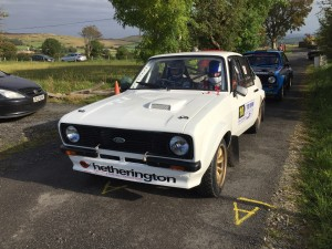 Donaghmore Man Adrian Hetherington was top local driver coming tenth overall after a great come-back drive.