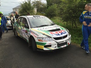 Josh Moffett and Jason McKenna, both from Co Monaghan, tok their Evo IX to second place.