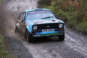 Frank Kelly and Daughter Lauren on their way to 10th Overall on the Glens Rally.