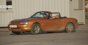 Mark Stewart tries his hand at autotest, and was second beginner in the MX5 Class.