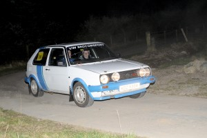 Dougie and Glenn Millar had a smooth run to win the Cookstown Night Navigation Rally in their VW Golf GTi.
