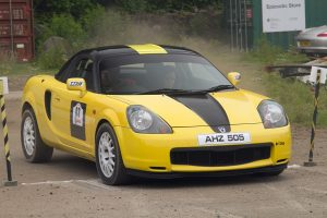 A welcome relief from all the MX5s, Alan Harryman and Suz Graham in their MR2. Photo by peeSpeed.com