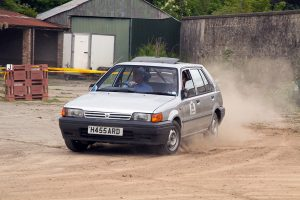 The experienced Harold Hassard with Melissa Donaldson won the Large Saloon class in their Nissan Sunny.  Photo by peeSpeed.com