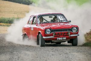 Dermot Carnegie and Mark Fitzsimmon guide their immaculate Mk1 Escort to 8th Overall and 5th in Class 2. Photo Leslie McMullan