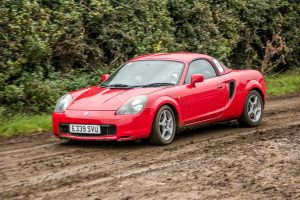 Sean Devlin and Wayne Turkington in their MR2 would finish sixth in Novice RWD Class. Photo Les McMullan