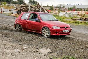 Norman Ferguson brought his Peugeot 106 to top place in the Semi-Experts FWD. Photo Les McMullan
