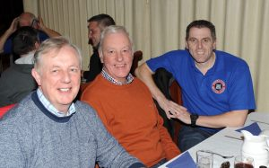 Raymond Donaldson, Trevor Haydock and Keith Hall enjoy the evening.