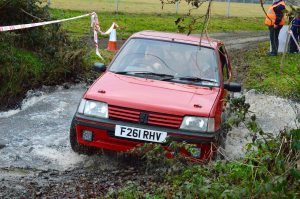 A sensational drive by Craig McCullough, with Steven Ferguson navigating, resulted in 11th Overall and winner of Class 3. Photo A Hanna.