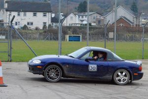 """Navigator Andrew Emerson wants driver Leslie McLean to """"go over there"""". 2nd in Class 6 was a fine result. Photo A. Hanna."""