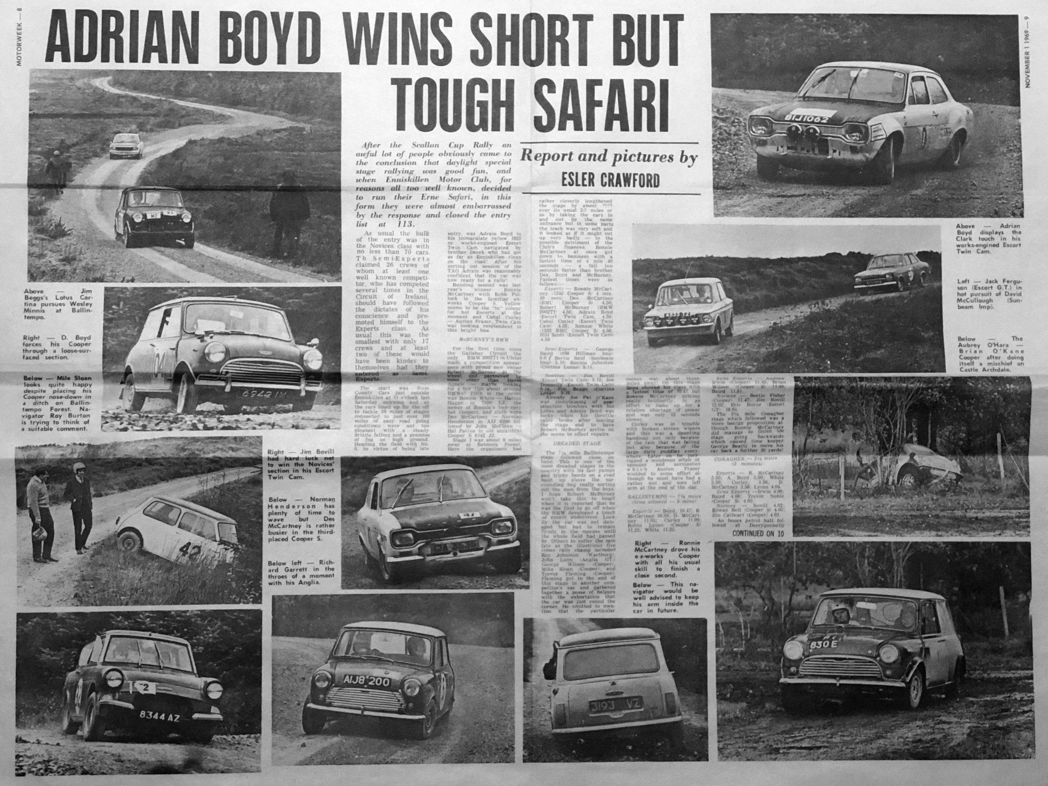 1969 erne safari rally dungannon motor club dungannon motor club